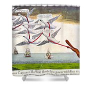 Charles Fox: Cartoon, 1782 Shower Curtain