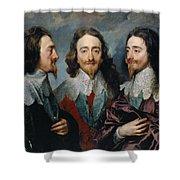Charles I Shower Curtain
