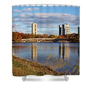Charles River At Harvard In Fall Shower Curtain