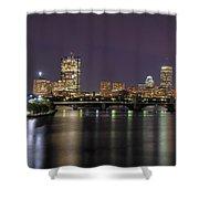 Charles River Reflections - Boston Shower Curtain by Joann Vitali
