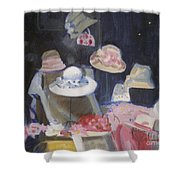 Charles Street Hats Shower Curtain