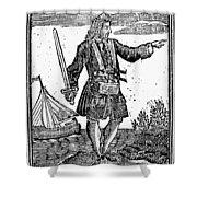 Charles Vane (c1680-1720) Shower Curtain