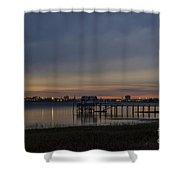 Charleston At Night Shower Curtain