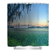 Charleston Bridge View Shower Curtain