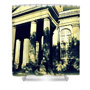 Charleston Church In Black And White Shower Curtain