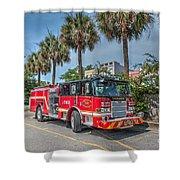 Charleston Fire Dept  Shower Curtain