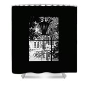 Charleston Gateway II In Black And White Shower Curtain