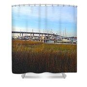 Charleston Harbor And Marsh Shower Curtain