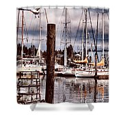 Charleston Marina At The End Of The Day Shower Curtain