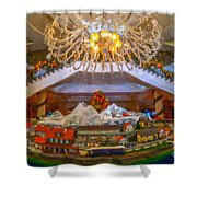 Charleston Place At Christmas Shower Curtain