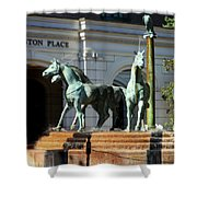 Charleston Place Shower Curtain by Karen Wiles