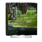 Charleston Sc Graveyard Shower Curtain