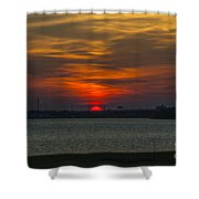 Charleston Sc Sunset Shower Curtain