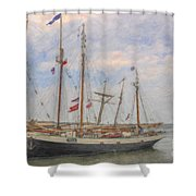 Charleston Ships Shower Curtain