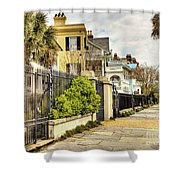 Charleston Sidewalk Shower Curtain