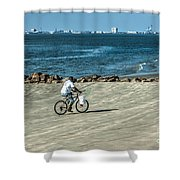 Charleston Surf Fishing Shower Curtain