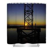 Charleston Water Sunset Shower Curtain