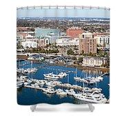 Charleston Waterfront And Marina South Carolina Shower Curtain