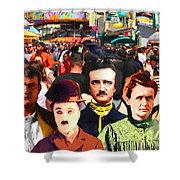 Charlie And Friends Tries To Blend In With The Crowd 5d23867 Shower Curtain