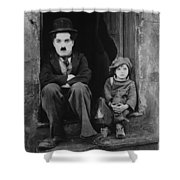Charlie Chaplin 1921 Shower Curtain