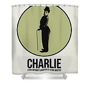 Charlie Poster 1 Shower Curtain by Naxart Studio