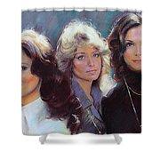 Charli's Angels Kate Jackson Farrah Fawcett Jaclyn Smith Shower Curtain