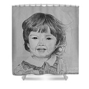 Charlotte B/w Shower Curtain by Martin Howard