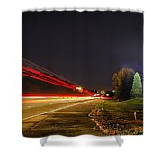 Charlotte City Airport Entrance Sculpture Shower Curtain