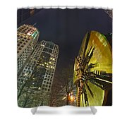 Charlotte Downtown At Night Shower Curtain