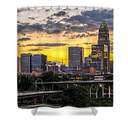 Charlotte Dusk Shower Curtain by Chris Austin