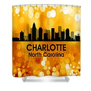 Charlotte Nc 3 Squared Shower Curtain
