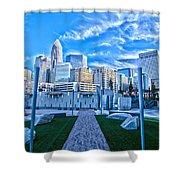 Charlotte Nc Usa - Charlotte Skyline  Shower Curtain