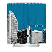 Charlotte Skyline 1 - Steel Shower Curtain