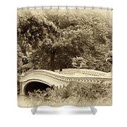 Charm Of Bow Bridge Shower Curtain
