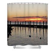 Charming Eveninglight Over Key Largo Shower Curtain