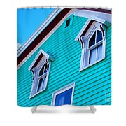 Charming Sleepy Seaside Home Shower Curtain by Patricia L Davidson