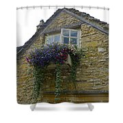 Charming Window And Flowers Shower Curtain