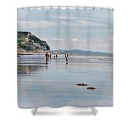 Charmouth Beach 2 Shower Curtain