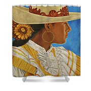 Charra Bonita Shower Curtain