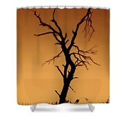 Charred Silhouette Shower Curtain
