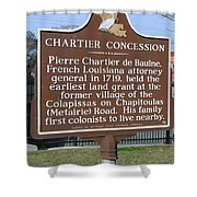 Chartier Concession Shower Curtain