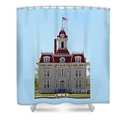 Chase County Courthouse In Kansas Shower Curtain