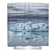 Chasing Ice Shower Curtain