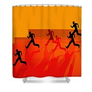 Chasing Shadows Shower Curtain