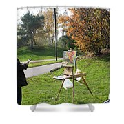 Chasing The Autumn Colors Shower Curtain