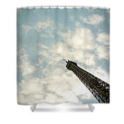 Chasing The Dream Paris Eiffel Tower Shower Curtain