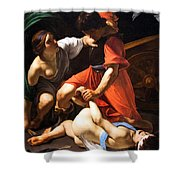 Chastisement Of Cupid  Shower Curtain