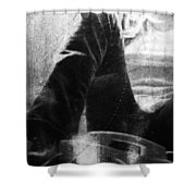 Chat In Black  Shower Curtain