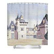 Chateau A Fontaine Shower Curtain