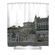 Chateau Ambois Rises Above Its Town Shower Curtain
